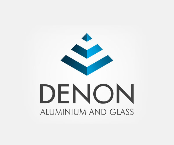 denon-aluminium-and-glass-logo-design