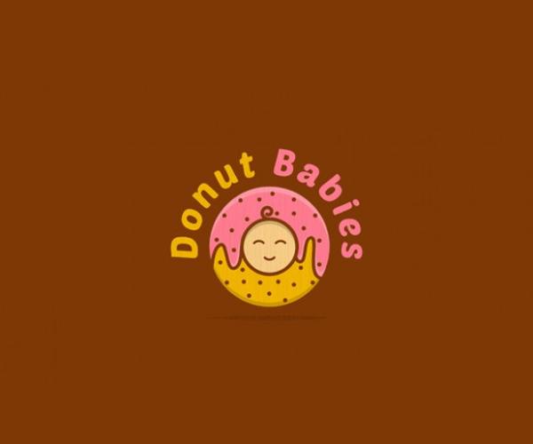 donut-babies-logo-design