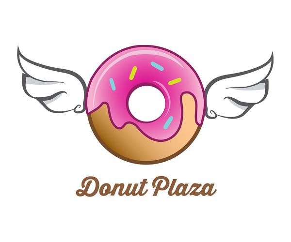 donut-plaza-logo-design