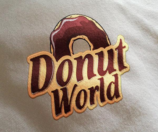 donut-world-logo-design