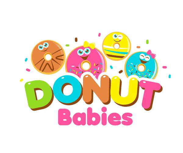 donuts-babies-logo-design