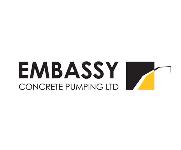 embassy-concrete-pumping-logo-design