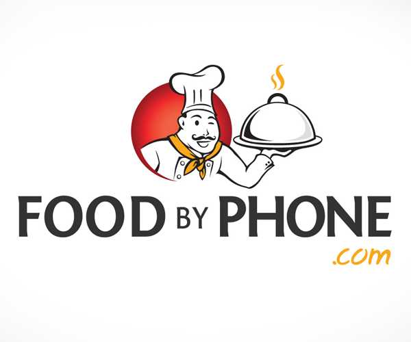 food-by-phone-com-logo-design