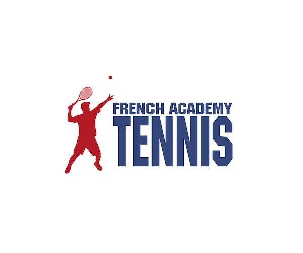 french-academy-tennis-logo-design