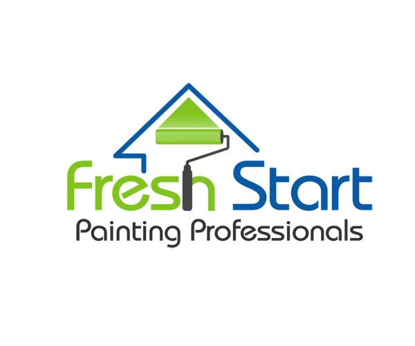 fresh-start-painting-logo-designer