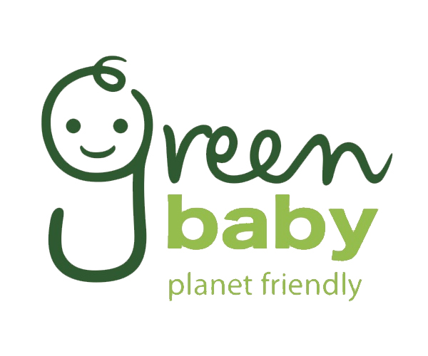 green-baby-logo-design