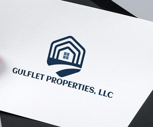 gulflet-properties-logo-design