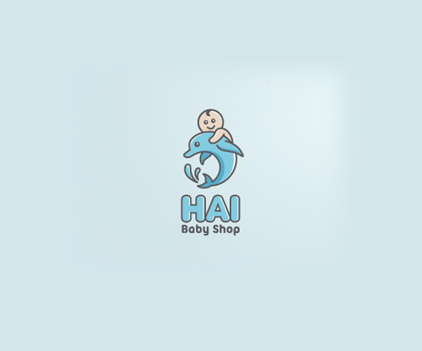 hai-baby-shop-logo-design