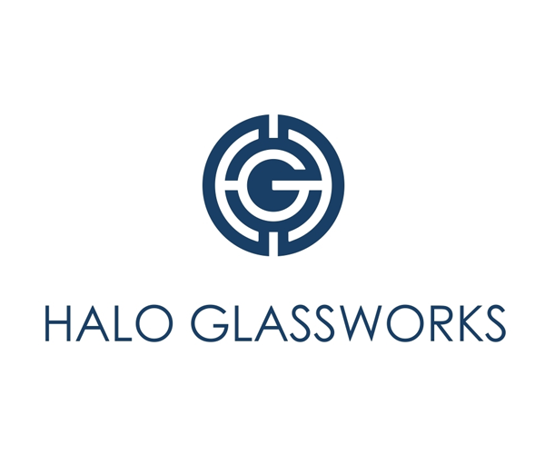 halo-glassworks-logo-design