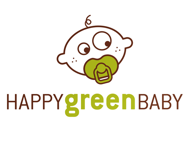 happy-green-baby-logo-design