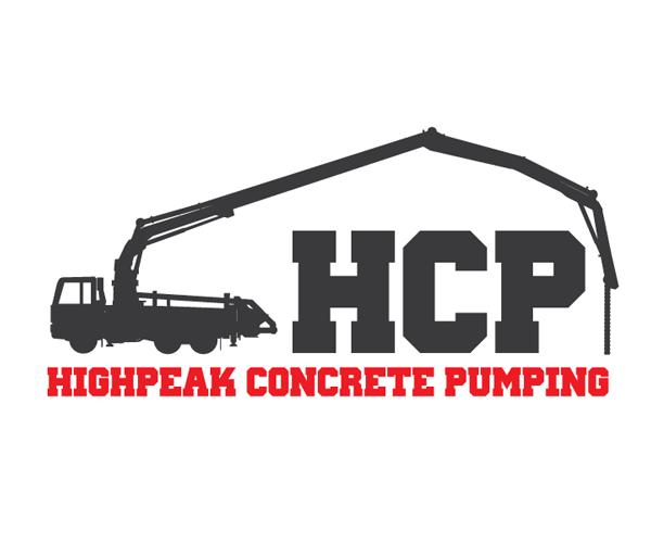 highpeak-concrete-pumping-logo-design