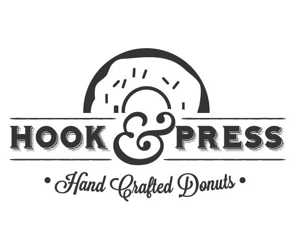 hook-and-press-donuts-shop-logo
