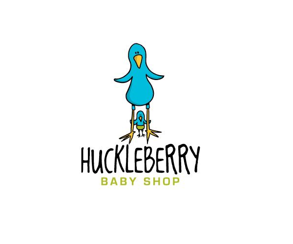 huckleberry-baby-shop-logo-design