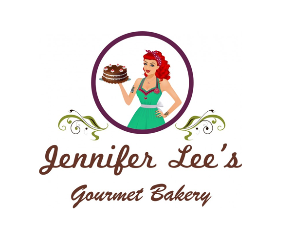 jennifer-lees-gourmet-bakery-logo-design-for-shop