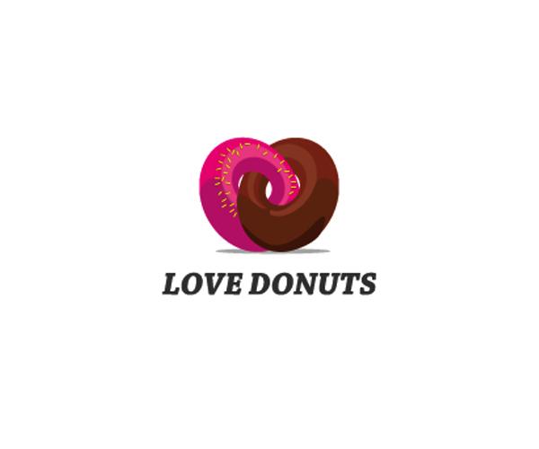 love-donuts-logo-design