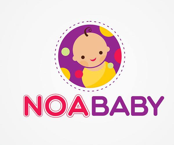 noa-baby-logo-design