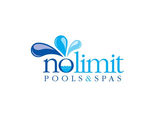 nolimit-pool-and-spas-logo-design