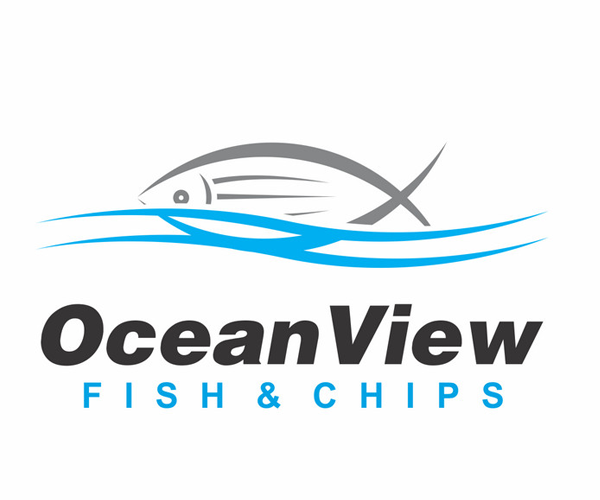 ocean-view-fish-and-chips-logo-design