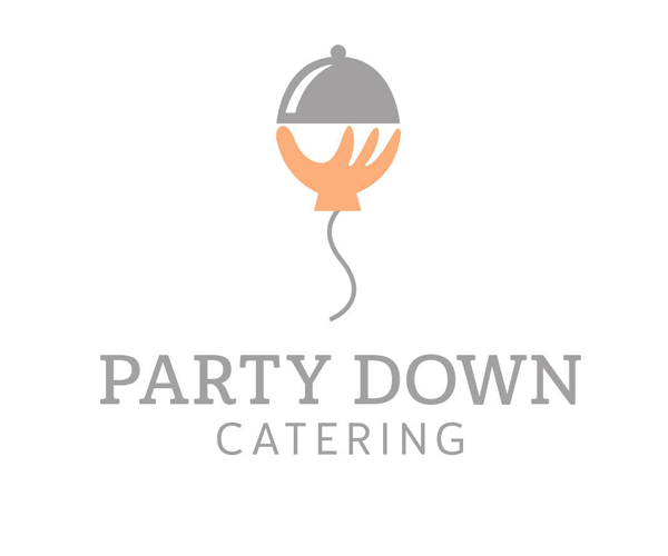 party-down-catering-logo-design