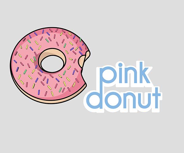 pink-donut-logo-design