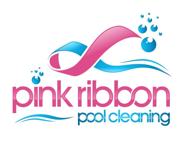 pink-ribbon-pool-cleaning-logo-designer