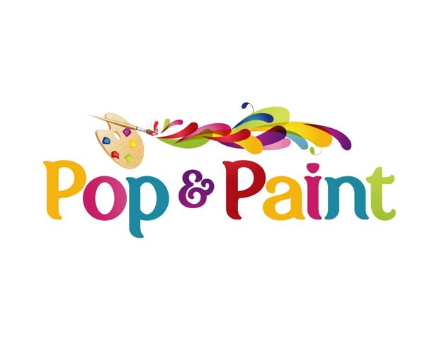 pop-&-paints-logo-design