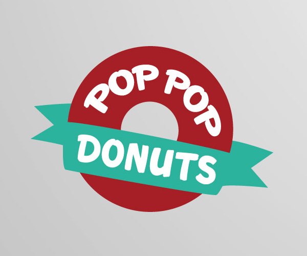 pop-pop-donuts-logo-design