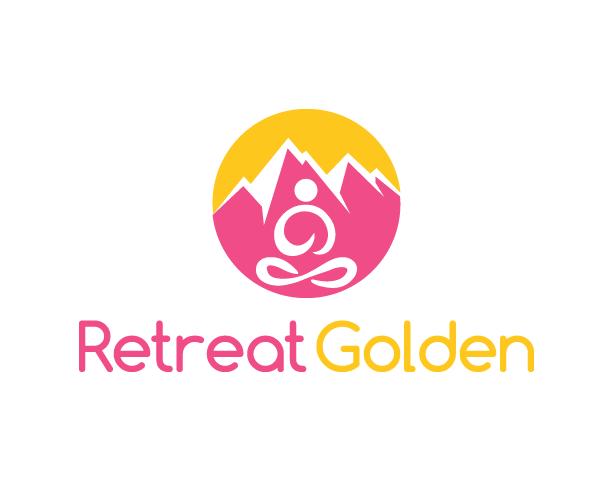 retreat-golden-logo-design