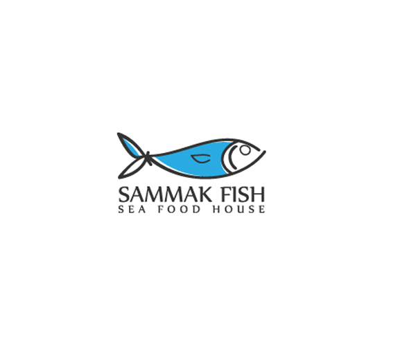 sammak-fish-sea-food-house-logo-design