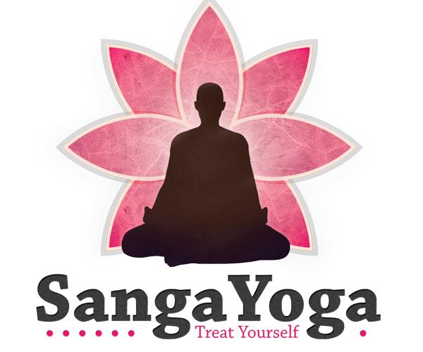 sanga-yoga-treat-yourself-logo-design