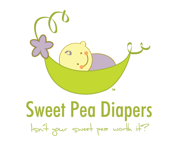 sweet-pea-diapers-logo-design