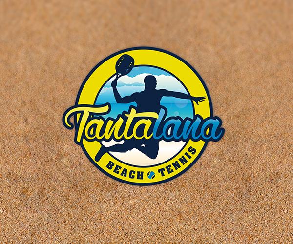 tantalana-beach-tennis-logo-design