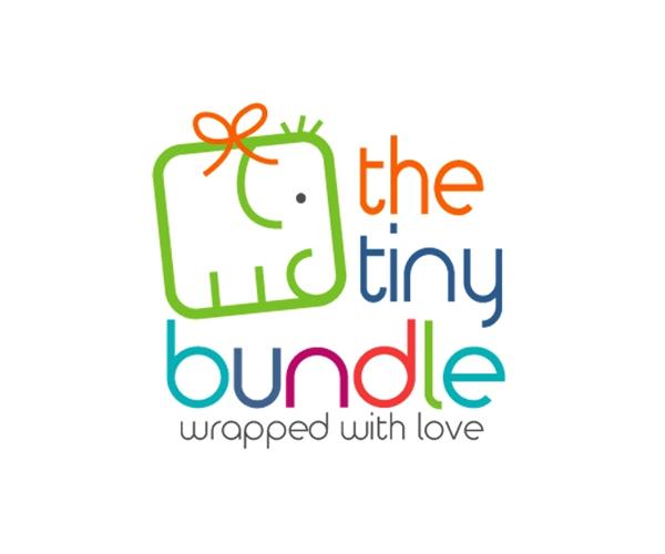 the-tiny-bundle-baby-product-logo-design