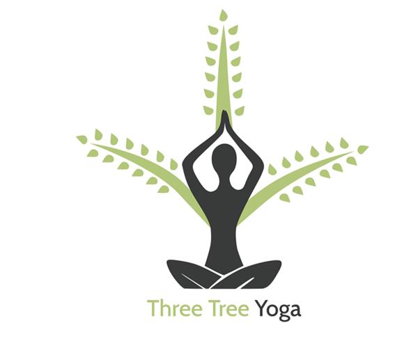 three-tree-yoga-logo-design