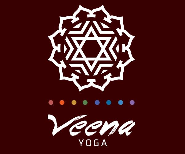 veena-yoga-logo-design