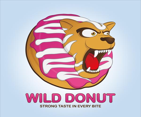 wild-donut-logo-design