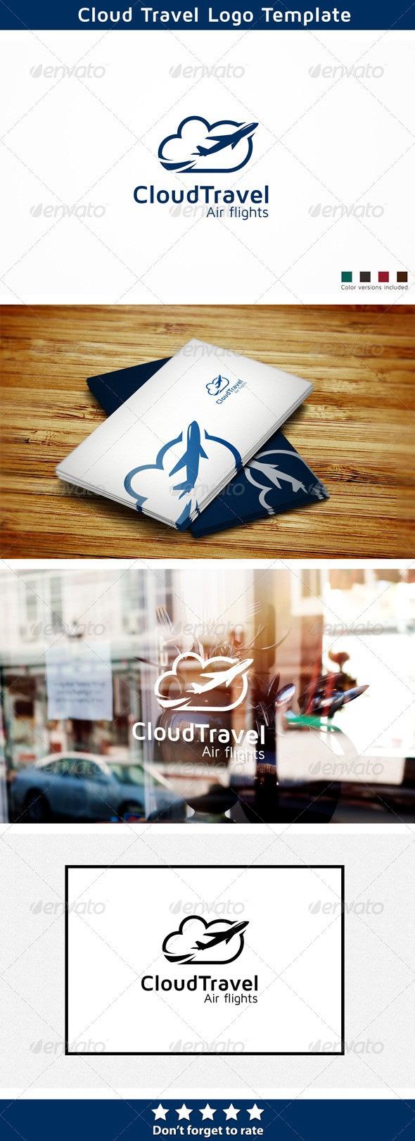 Cloud Travel logo design download