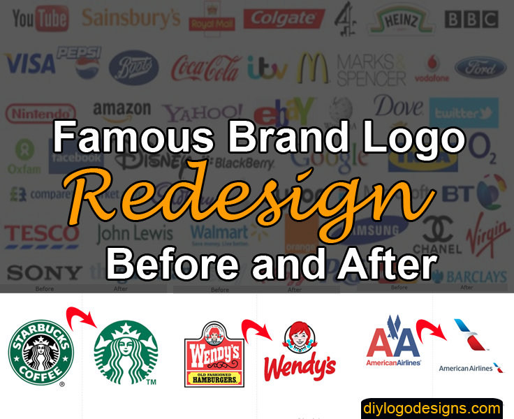 Famous Brand Logo Redesign Before and After