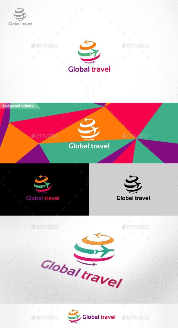 Global Travel Logo download