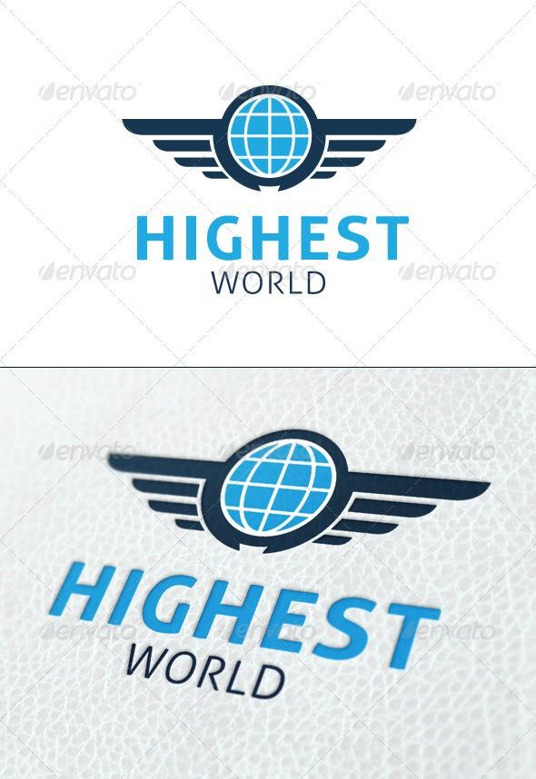Highest World logo design