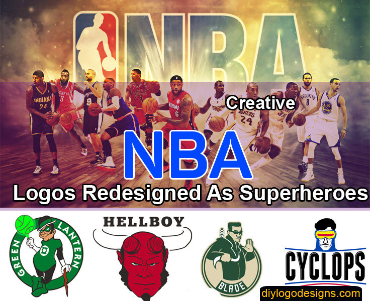 NBA Logos Redesigned As Superheroes