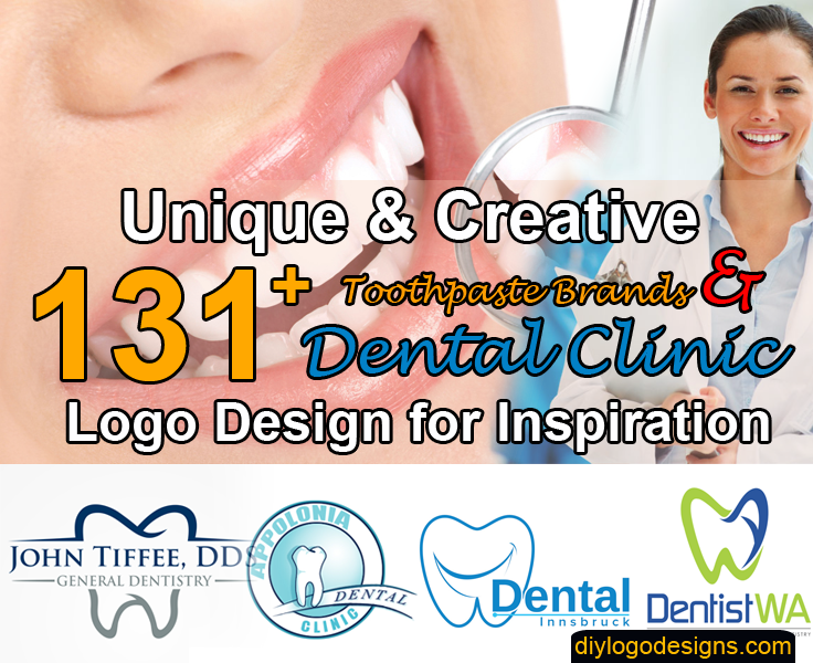131+ Famous Toothpaste Brands & Dental Clinic Logo Design Inspiration