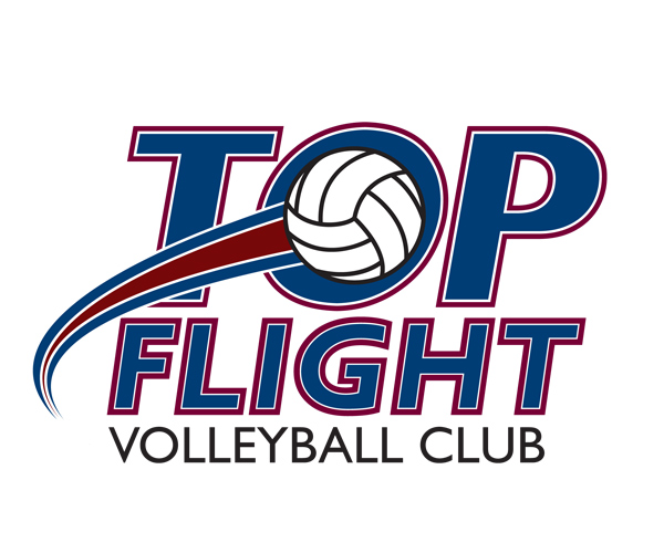 Top-Flight-Volleyball-logo-design