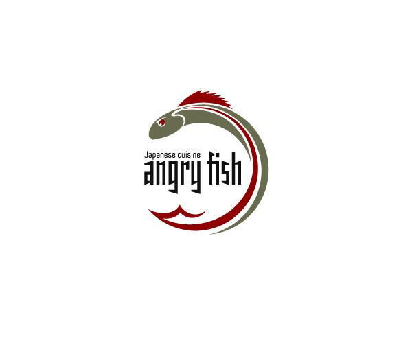 angry-fish-logo-design-japanese-cuisine-logo