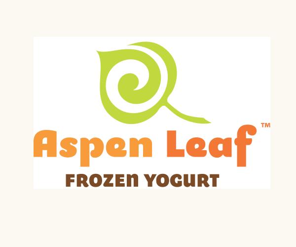 aspen-leaf-frozen-yogurt-logo-design