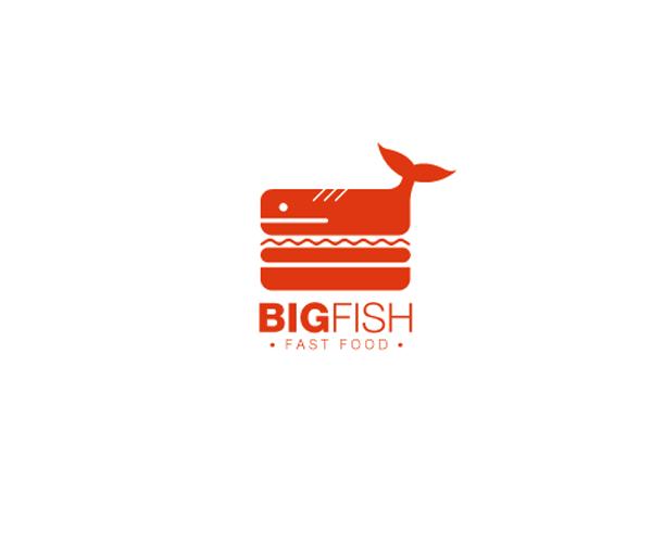 big-fish-fast-food-logo-design