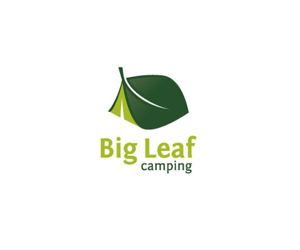 big-leaf-camping-logo-design