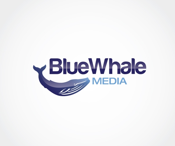 blue-whale-media-logo-design