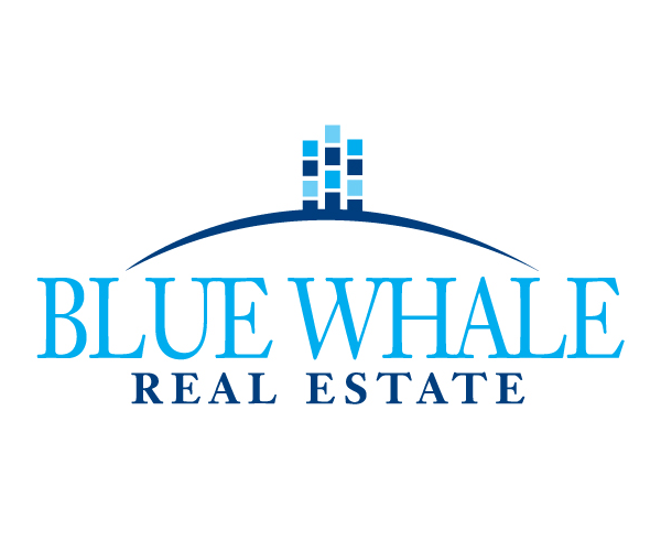 blue-whale-real-estate-logo-design