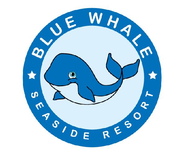 blue-whale-resort-logo-design